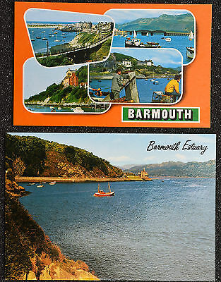 Postcards ~ Wales ~  Barmouth Multi View & Barmouth Estuary