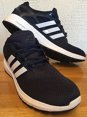 Men's Adidas Cloudfoam Navy Blue White Trainers Running Shoes UK 11 Worn Once