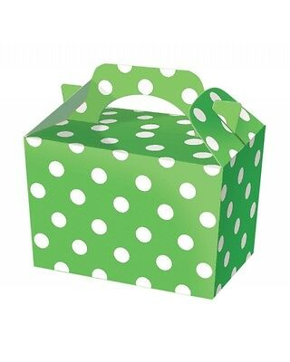 Wholesale Job Lot 150 Green Polka Dot Food Boxes *Party *Boys *Girls