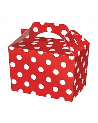 Wholesale Job Lot 150 Red Polka Dot Food Boxes *Party *Boys *Girls