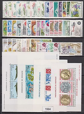 MONACO ANNEE COMPLETE 1994 timbres neufs xx Cote 149 €