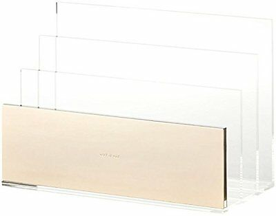 Best Acrylic File Organizer with 3 sections by Kate Spade New York - Gold