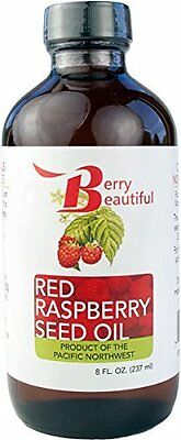 Oil From Red Raspberry Seed 237 ml Unrefined and Cold-Pressed by Berry Beautiful