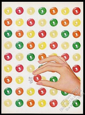1956 Life Savers Five Flavors candy filled page art vintage print ad