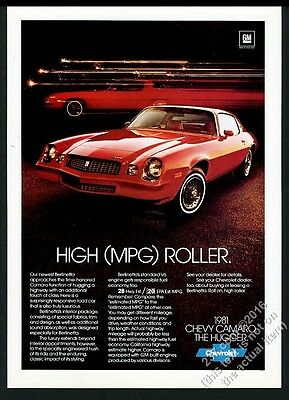 1981 Camaro Berlinetta red car photo Chevy Chevrolet vintage print ad