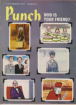 Punch Magazine Vintage Old  7 February 1973 Birthday Mike Williams John Cleese
