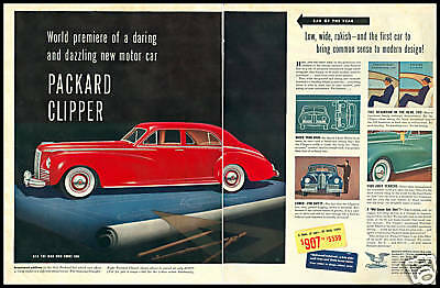 1940 vintage ad for Packard Automobiles
