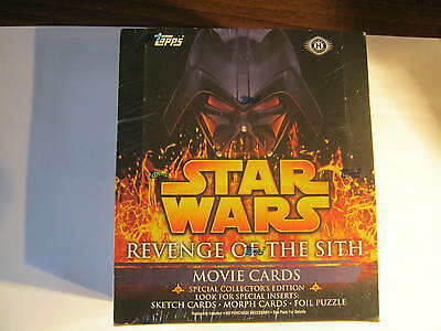 Star Wars Revenge of the Sith Topps Movie Cards 36 pack box still sealed.