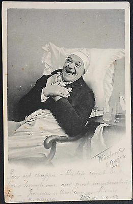 Vintage Postcard ~ Laughing Man  ~ Posted 1903 from Belfast