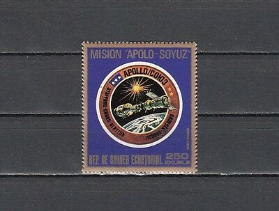 / Equatorial Guinea, MI cat. 623. Apollo-Soyuz, Space value.