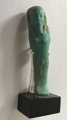 Ancient Egypt DYNASTY FUNERAL DEATH USHABTI  FAIENCE  MUMMY BLUE COLOR