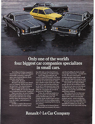 Original Print Ad-1978 1 of the Big 4 Specializes in Small Cars...Le Car/RENAULT