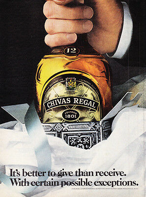 Original Print Ad-1980 It's Better To Give Than To Receive-CHIVAS REGAL-Except…