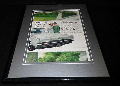 1969 Lincoln Mercury Marquis 11x14 Framed ORIGINAL Vintage Advertisement