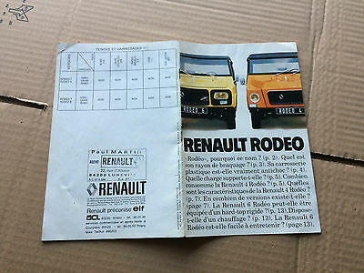 renault  rodeo  4  6,,  feullet de 15 pages   recto verso  a4