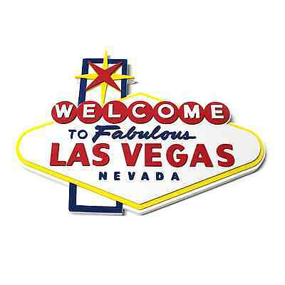 Welcome To Fabulous Las Vegas Sign Foam Wall Hanging Game Room 3D