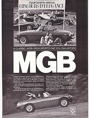 Original Print Ad-1978 MGB-FOURTEENTH ANNUAL CONCOURSE D'ELEGANCE-SPORTS CAR