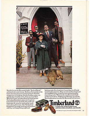 Original Print Ad-1978 TIMBERLAND BOOTS-The Bootlegging Family Goes to Church….
