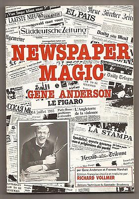 NEWSPAPER MAGIC by Gene Anderson & Frances Marshall 1981 **French Edition**