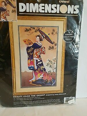 Dimensions Crewel  Kit Beauty From The Orient  30Cm X 51Cm       New