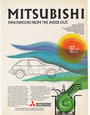 Original Print Ad-1980 MITSUBISHI Innovation From The Inside Out-Dodge/Plymouth