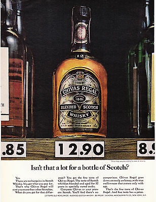Original Print Ad-1978 CHIVAS REGAL-Isn't That A Lot For A Bottle of SCOTCH? Yes