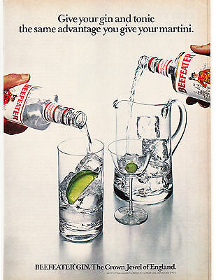Original Print Ad-1979 BEEFEATER GIN-Give your GIN & Tonic The Same Advantage…