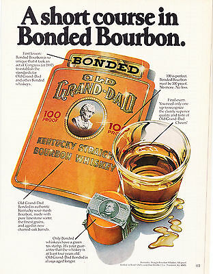 Original Print Ad-1979 A Short Course In Bonded Bourbon-OLD GRAND-DAD WHISKEY