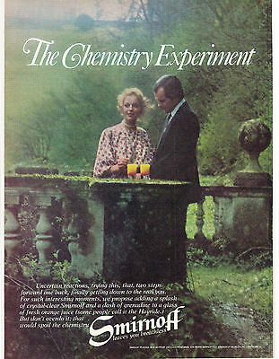 Original Print Ad-1978 The Chemistry Experiment-SMIRNOFF LEAVES YOU BREATHLESS