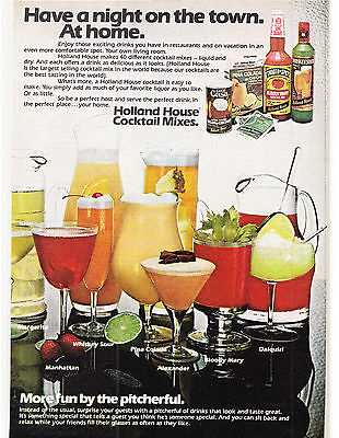 Original Print Ad-1979 Have a night on the town. At home-HOLLAND HOUSE COCKTAILS