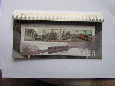Classic Locomotives Of Northern Ireland Set 4 Stamps Booklet Royal Mail 2013