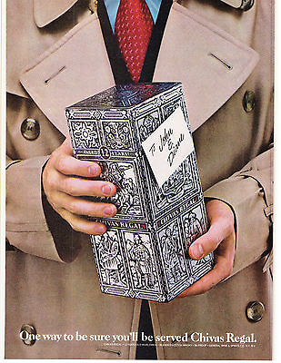 Original Print Ad-1979 One way to be sure you'll be served CHIVAS REGAL…Gift it