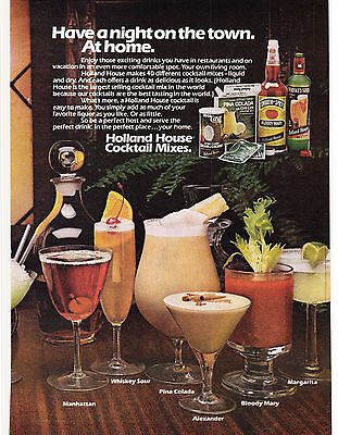 Original Print Ad-1978 Have a night on the town. At home-HOLLAND HOUSE COCKTAILS