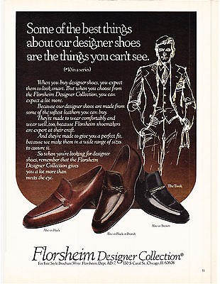 Original Print Ad-1979 Some of the best things about designer SHOES...FLORSHEIM