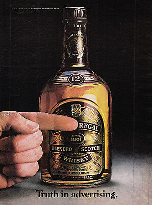 Original Print Ad-1980 CHIVAS REGAL BLENDED SCOTCH WHISKY-Truth in Advertising