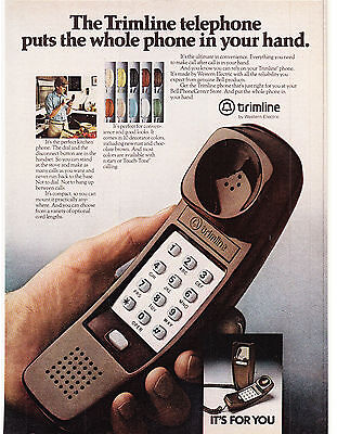 Original Print Ad-1980 TRIMLINE TELEPHONE-The Whole Phone In Your Hand-For You