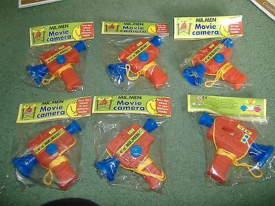 BNIP Mr Men Toy Movie Cameras x6. Great for collector or party bags