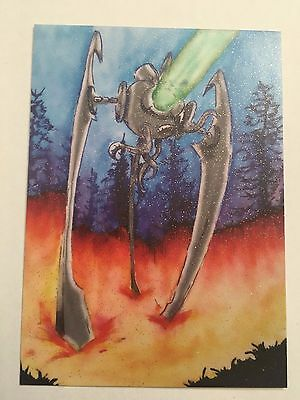 2016 Cult Stuff ILLUSTRATED WAR OF THE WORLDS Glitter Variant Autograph Card A2