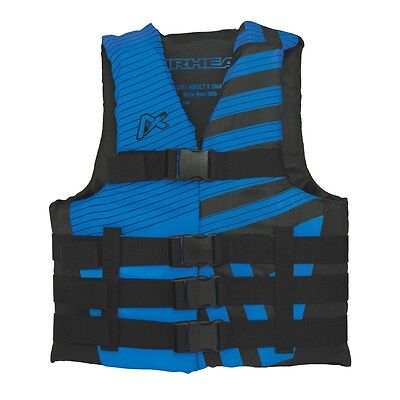 Airhead Trend Mens Closed Side Life Vest Blue SM/MD