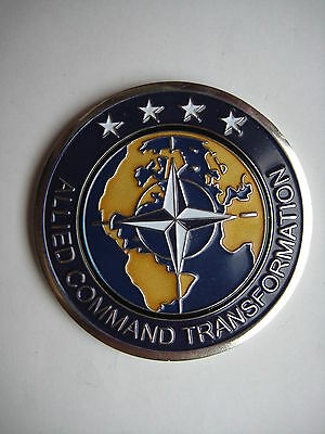Commanders Coin US Allied Command Transformation TOP Zustand