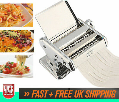 Stainless Steel Pasta Machine Lasagne Spaghetti Noodle Fettuccine Maker Tool UK