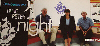 BLUE PETER Night October 1998 Noakes Purvis Singleton BBC Promotional Card Rare