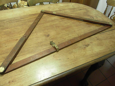 Military issue folding wooden set square / speed square ( Measuring device )