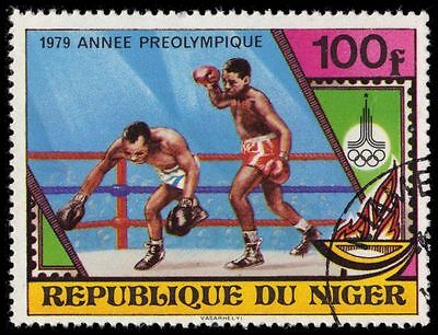 """NIGER 485 (Mi674) - Moscow Olympics """"Boxing"""" (pa39509)"""
