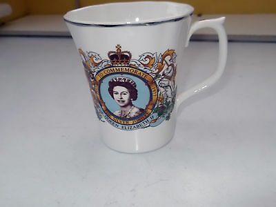 1977 China Mug For The  Silver   Jubilee  Of Queen  Elizabeth 11   No Maker