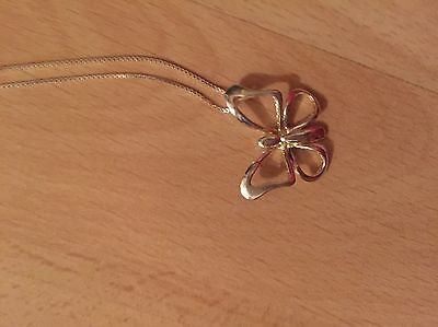 Pia 925 sterling silver butterfly necklace Pendant With Chain New