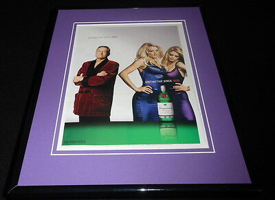 Hugh Hefner 2003 Tanqueray Framed 11x14 ORIGINAL Advertisement