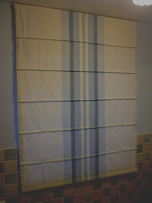 NEXT Roman Blind Cream with Blue Stripes 100% Cotton