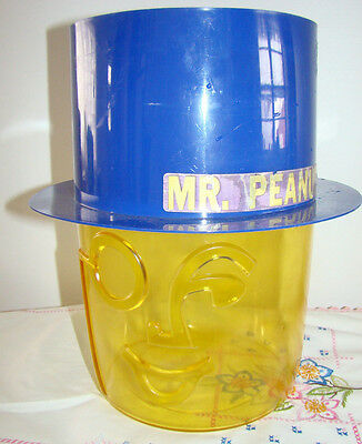Vintage 1979 Planters Mr. Peanut Plastic Counter Display Containter