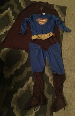 Superman Returns SuperHero Boys Kids Halloween Costume Size Large (10-12)